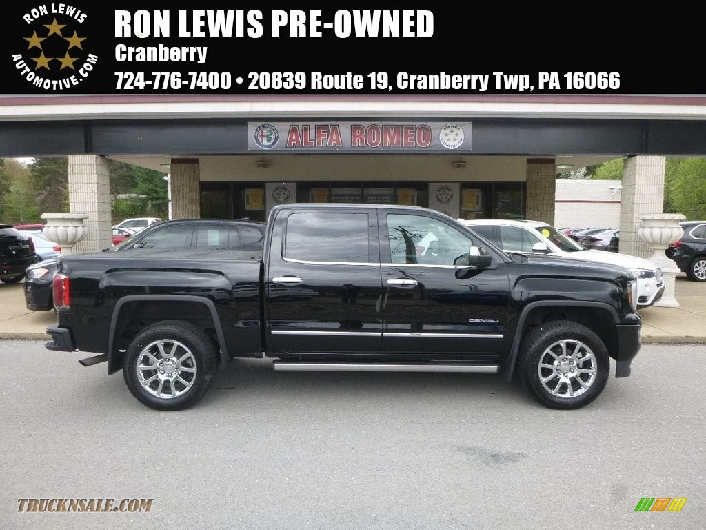 2017 Sierra 1500 Denali Crew Cab 4WD - Onyx Black / Cocoa/­Dark Sand photo #1