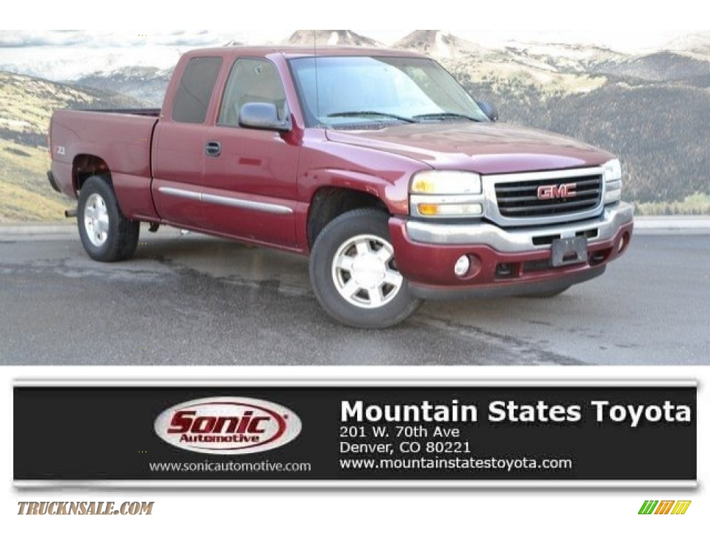 2005 Sierra 1500 SLE Extended Cab 4x4 - Sport Red Metallic / Neutral photo #1