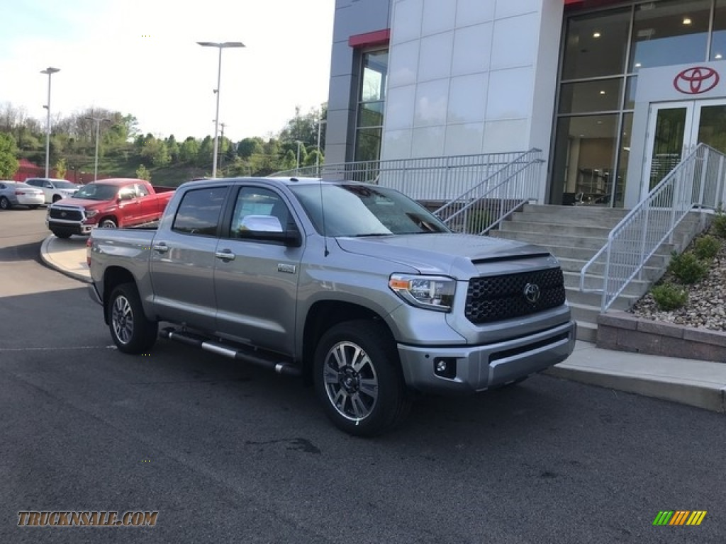 2018 Tundra Platinum CrewMax 4x4 - Silver Sky Metallic / Black photo #1