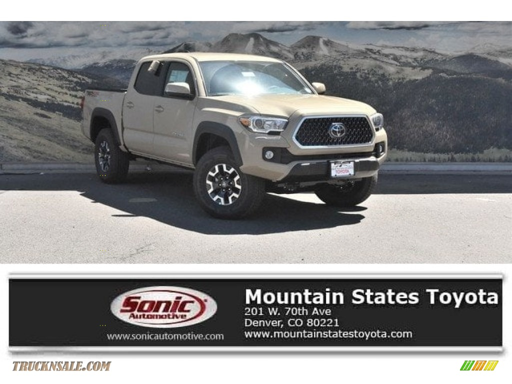 2018 Tacoma TRD Off Road Double Cab 4x4 - Quicksand / Graphite w/Gun Metal photo #1