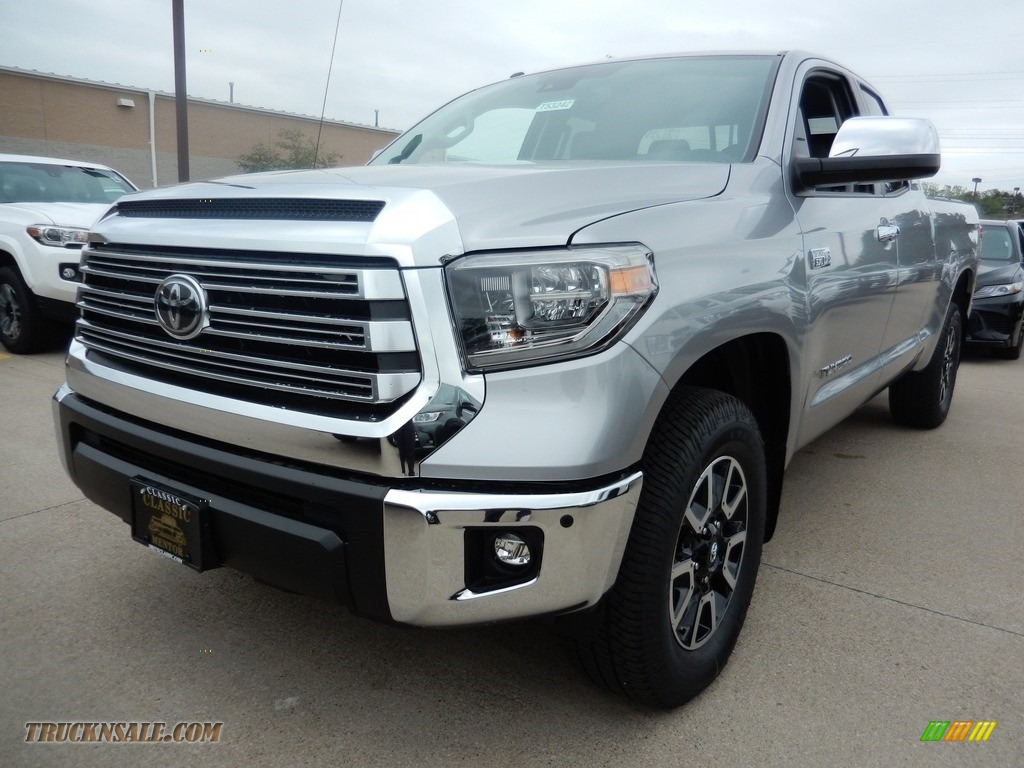 Silver Sky Metallic / Black Toyota Tundra Limited Double Cab 4x4