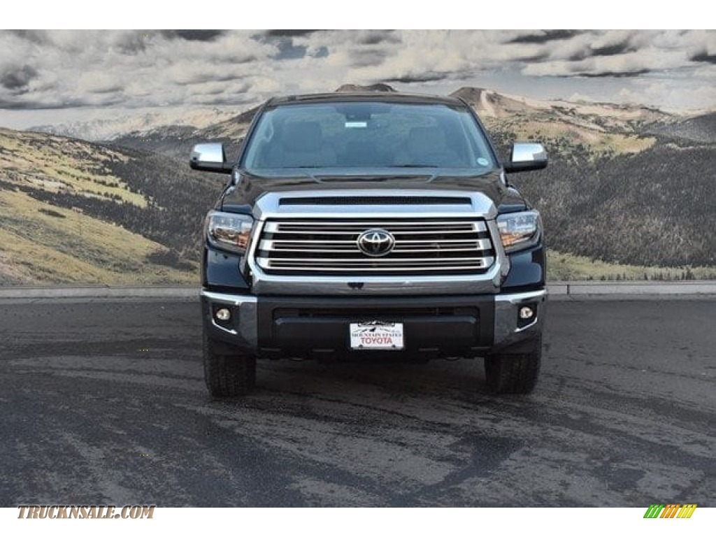 2018 Tundra Limited CrewMax 4x4 - Midnight Black Metallic / Black photo #2
