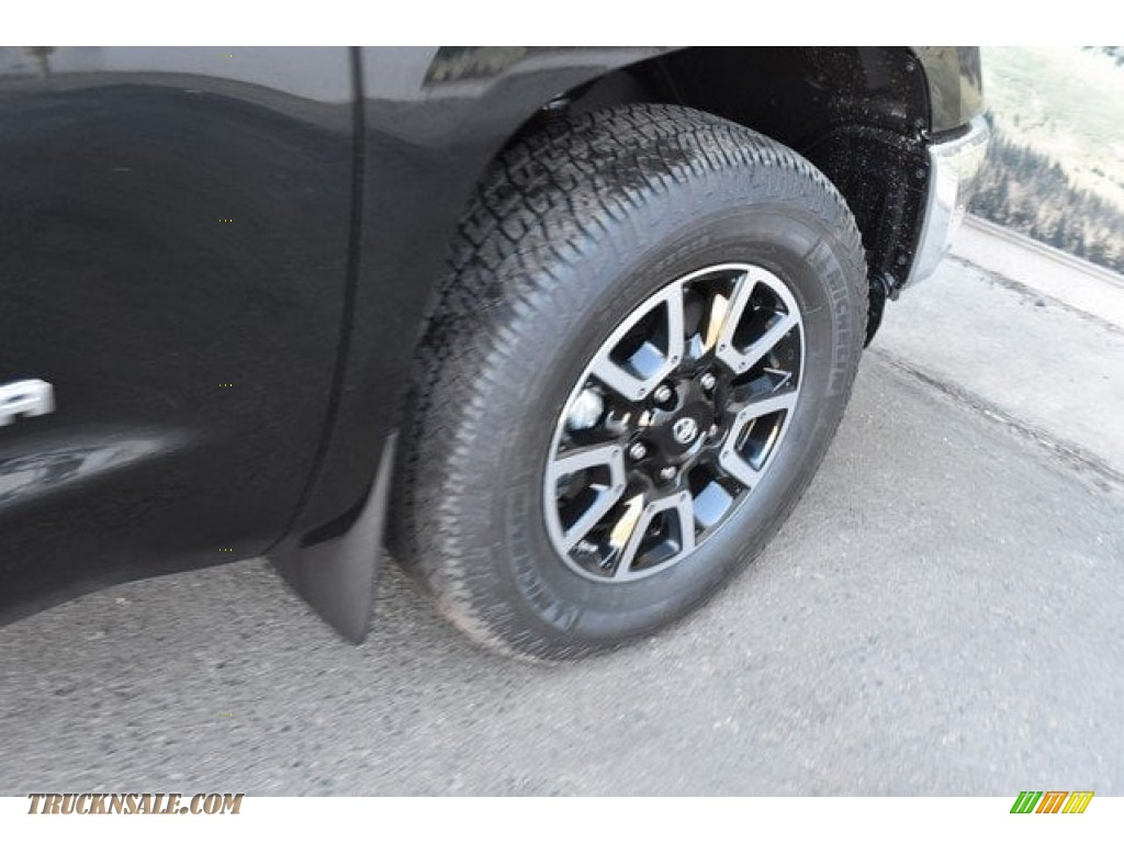 2018 Tundra Limited CrewMax 4x4 - Midnight Black Metallic / Black photo #35