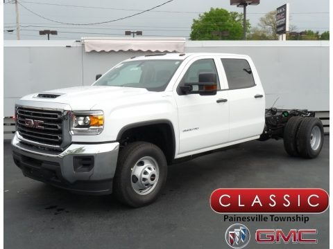 Summit White 2018 GMC Sierra 3500HD Crew Cab 4x4 Chassis
