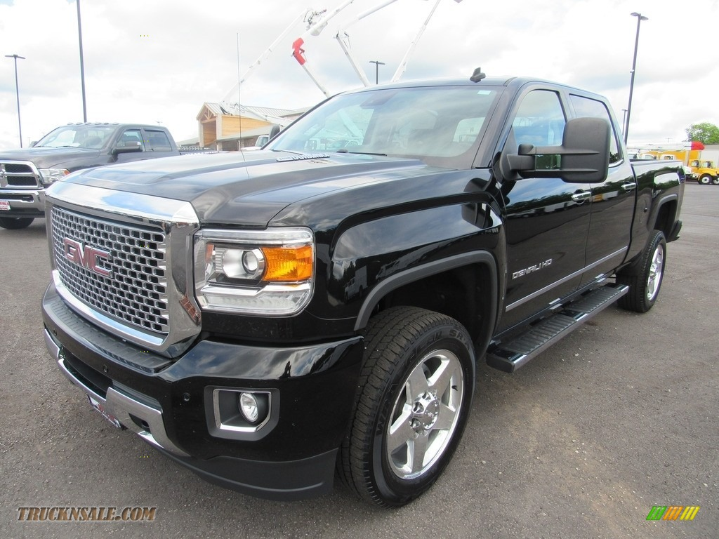 2015 Sierra 2500HD Denali Crew Cab 4x4 - Onyx Black / Cocoa/Dune photo #1