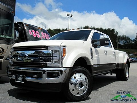 White Platinum 2018 Ford F450 Super Duty King Ranch Crew Cab 4x4