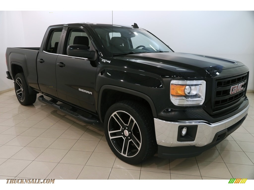 2015 Sierra 1500 SLE Double Cab 4x4 - Onyx Black / Jet Black photo #1