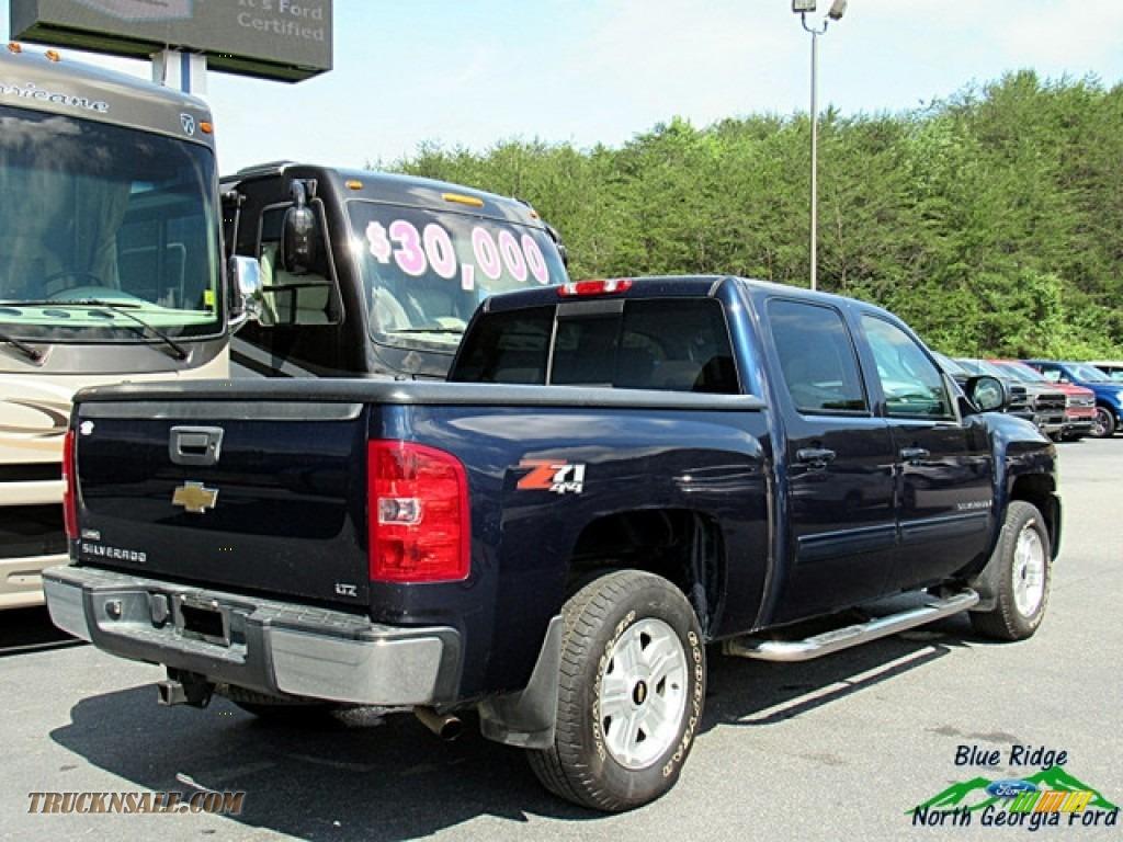 2009 Silverado 1500 LTZ Crew Cab 4x4 - Blue Granite Metallic / Light Titanium photo #5