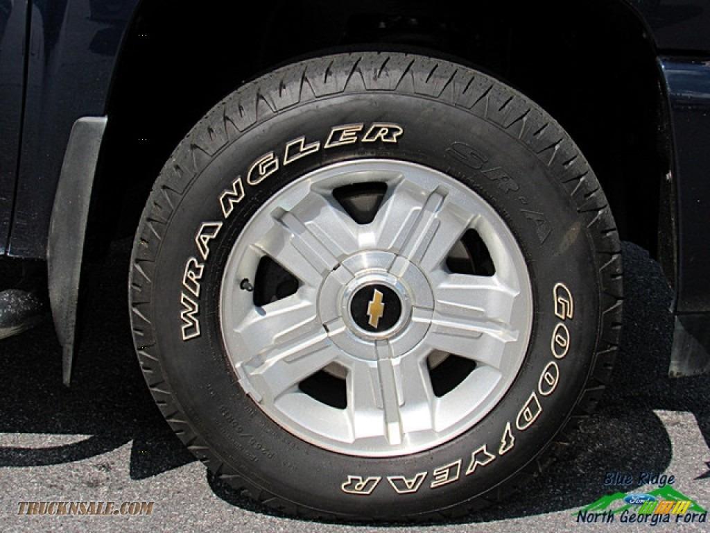 2009 Silverado 1500 LTZ Crew Cab 4x4 - Blue Granite Metallic / Light Titanium photo #9