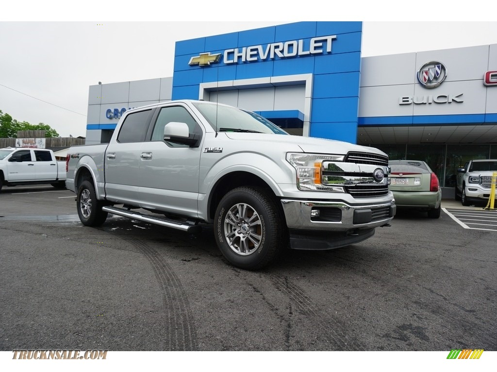 Ingot Silver / Earth Gray Ford F150 Lariat SuperCrew 4x4