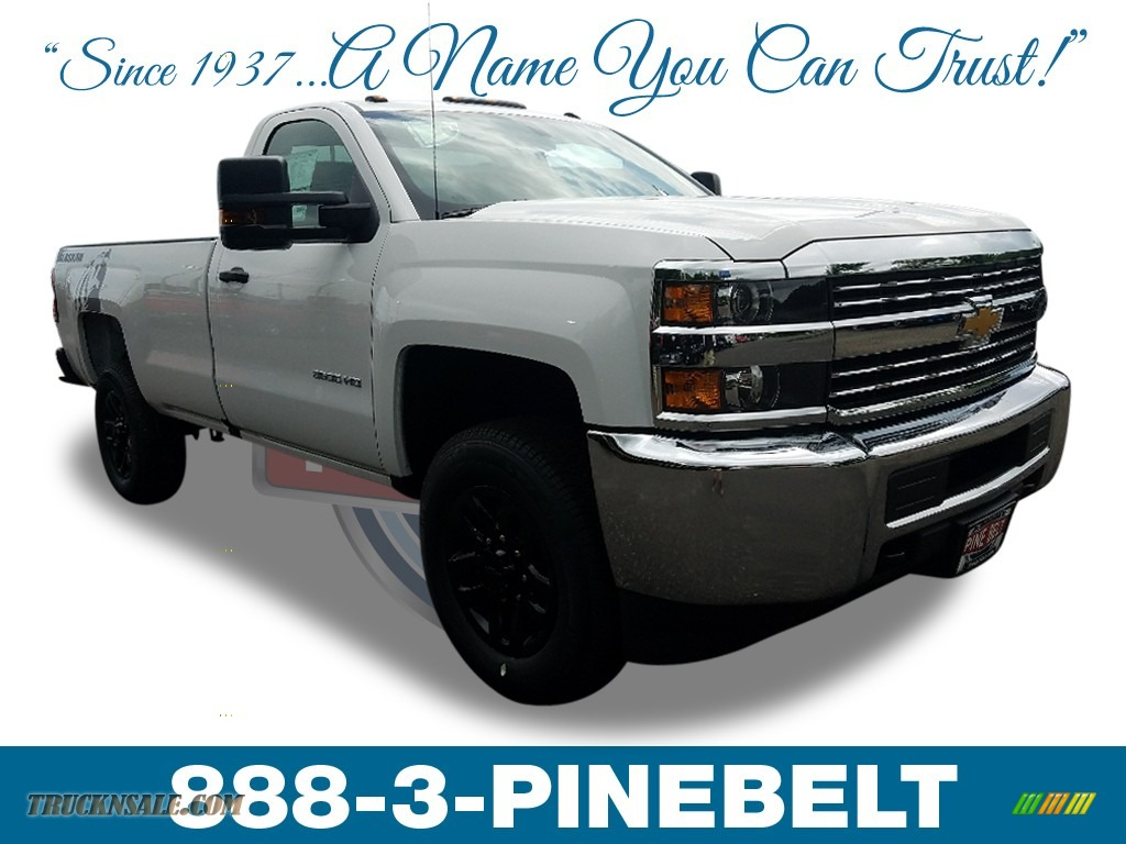 Summit White / Dark Ash/Jet Black Chevrolet Silverado 3500HD Work Truck Regular Cab 4x4