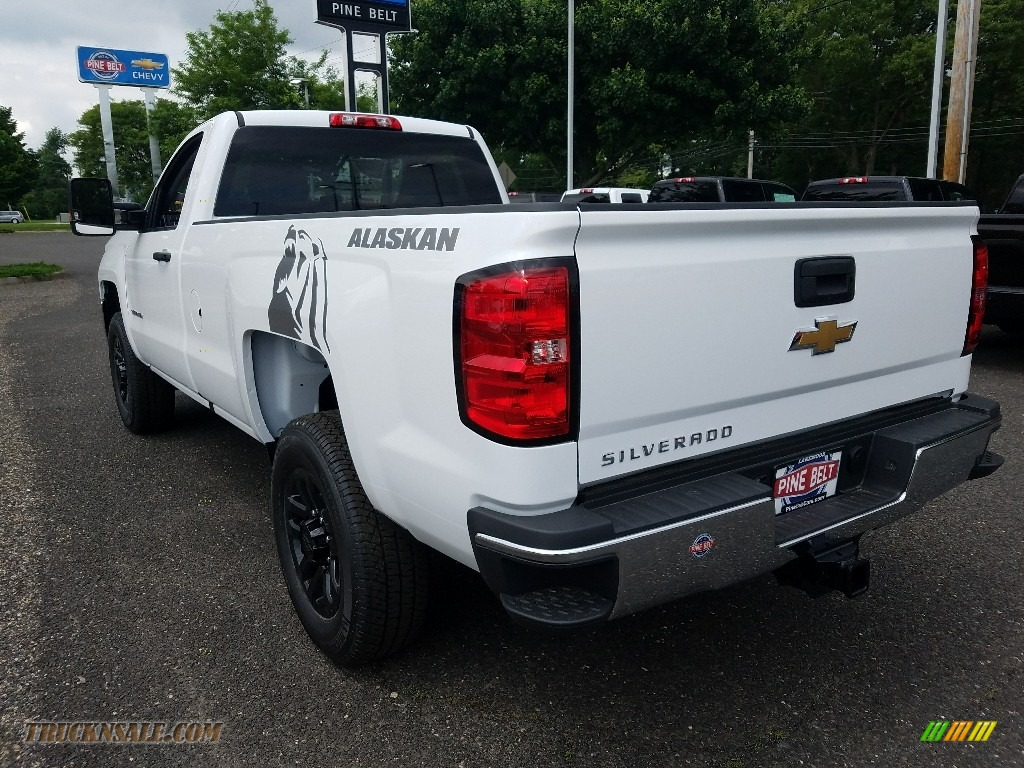 2018 Silverado 3500HD Work Truck Regular Cab 4x4 - Summit White / Dark Ash/Jet Black photo #4