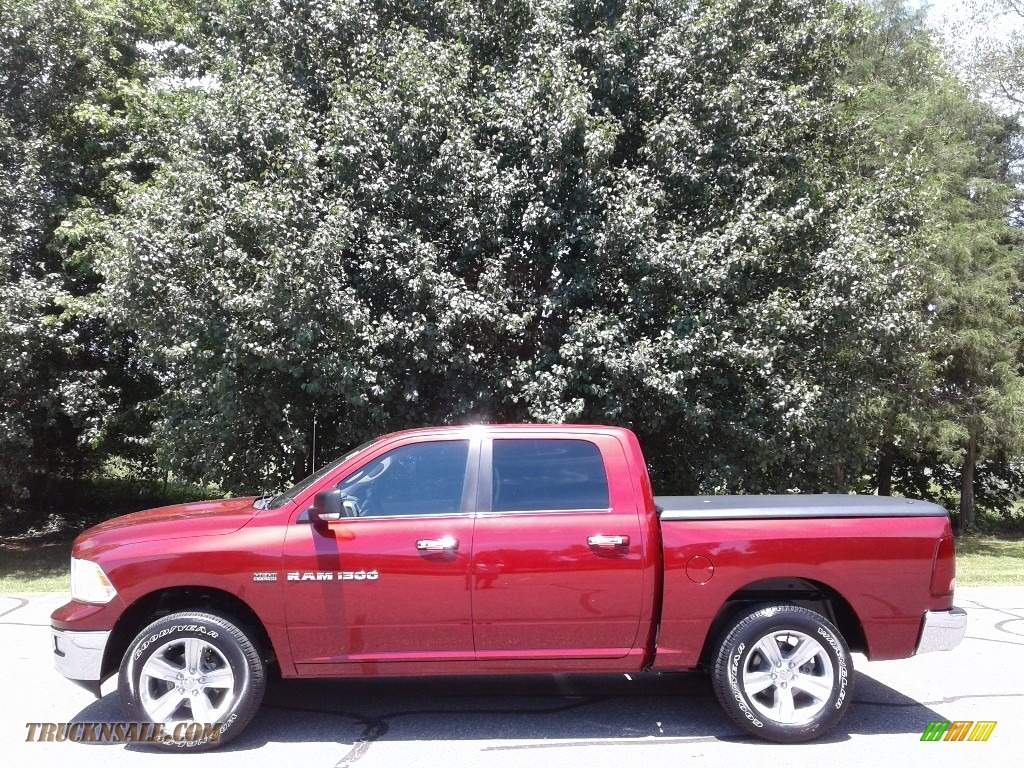2011 Ram 1500 Big Horn Crew Cab 4x4 - Deep Cherry Red Crystal Pearl / Dark Slate Gray/Medium Graystone photo #1