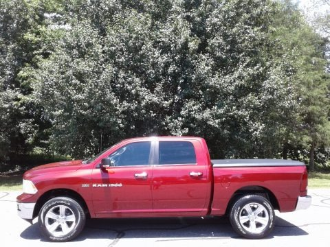 Deep Cherry Red Crystal Pearl 2011 Dodge Ram 1500 Big Horn Crew Cab 4x4