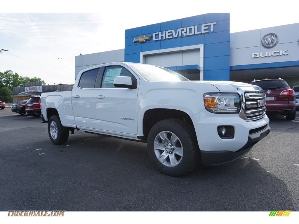 2018 Canyon SLE Crew Cab - Summit White / Jet Black photo #1