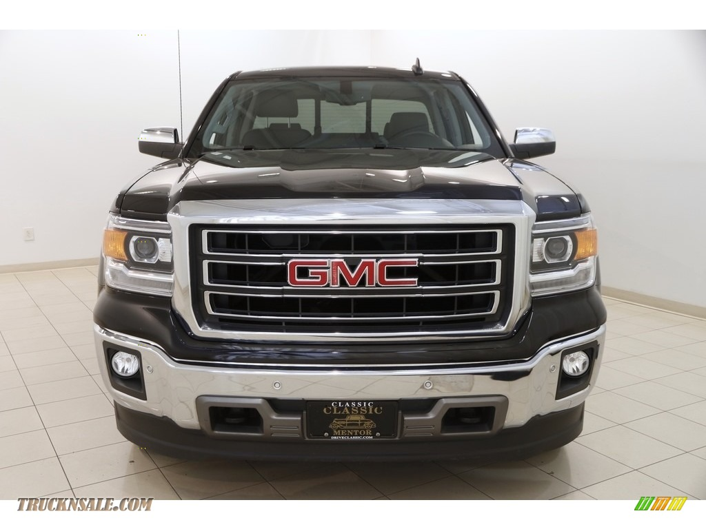 2015 Sierra 1500 SLT Double Cab 4x4 - Onyx Black / Jet Black photo #2