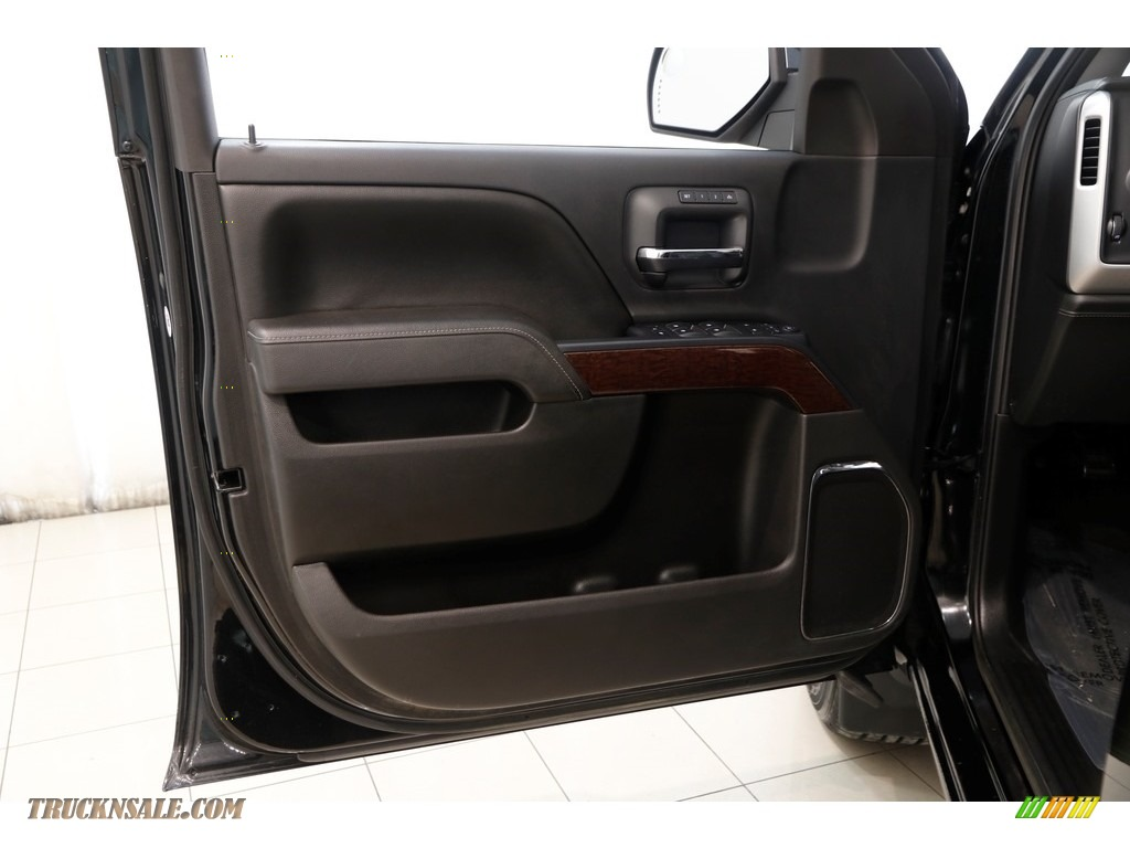 2015 Sierra 1500 SLT Double Cab 4x4 - Onyx Black / Jet Black photo #4