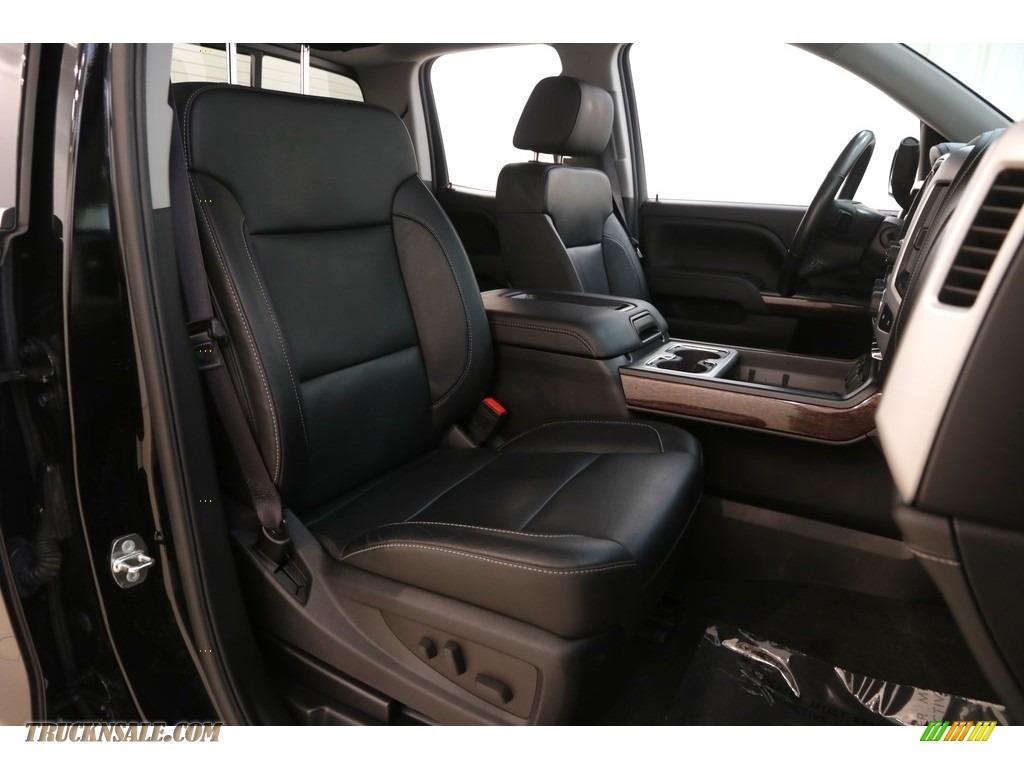 2015 Sierra 1500 SLT Double Cab 4x4 - Onyx Black / Jet Black photo #18