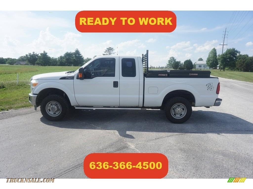 2011 F250 Super Duty XLT SuperCab 4x4 - Oxford White / Steel Gray photo #1