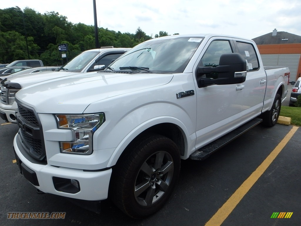 Oxford White / Black Ford F150 XLT SuperCrew 4x4
