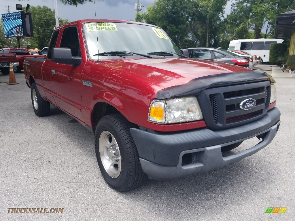 2006 Ranger XLT SuperCab - Redfire Metallic / Medium Dark Flint photo #1