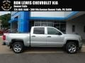 Chevrolet Silverado 1500 Custom Crew Cab 4x4 Silver Ice Metallic photo #1