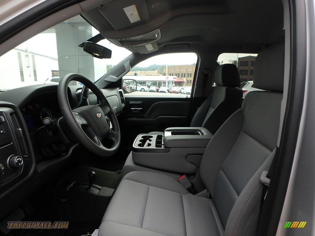 2018 Silverado 1500 Custom Crew Cab 4x4 - Silver Ice Metallic / Dark Ash/Jet Black photo #10