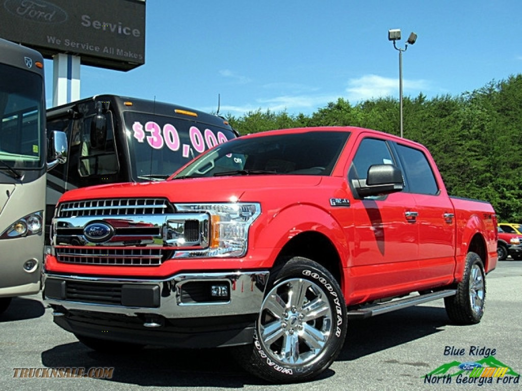 Race Red / Earth Gray Ford F150 XLT SuperCrew 4x4