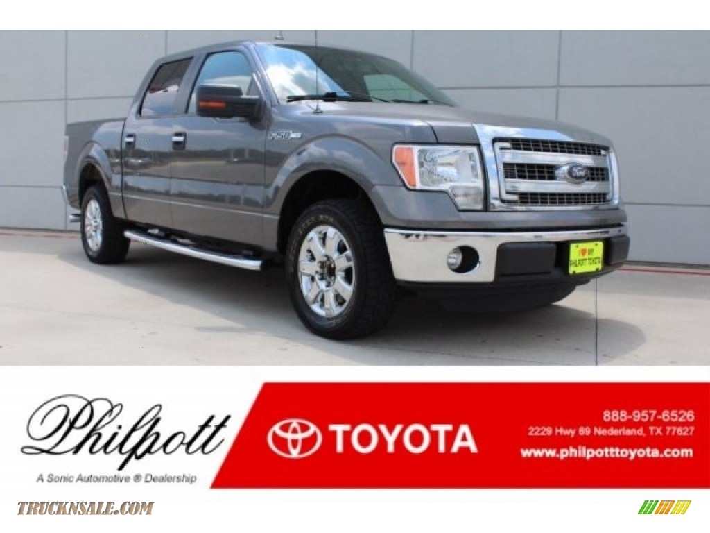 2013 F150 XLT SuperCrew - Sterling Gray Metallic / Steel Gray photo #1