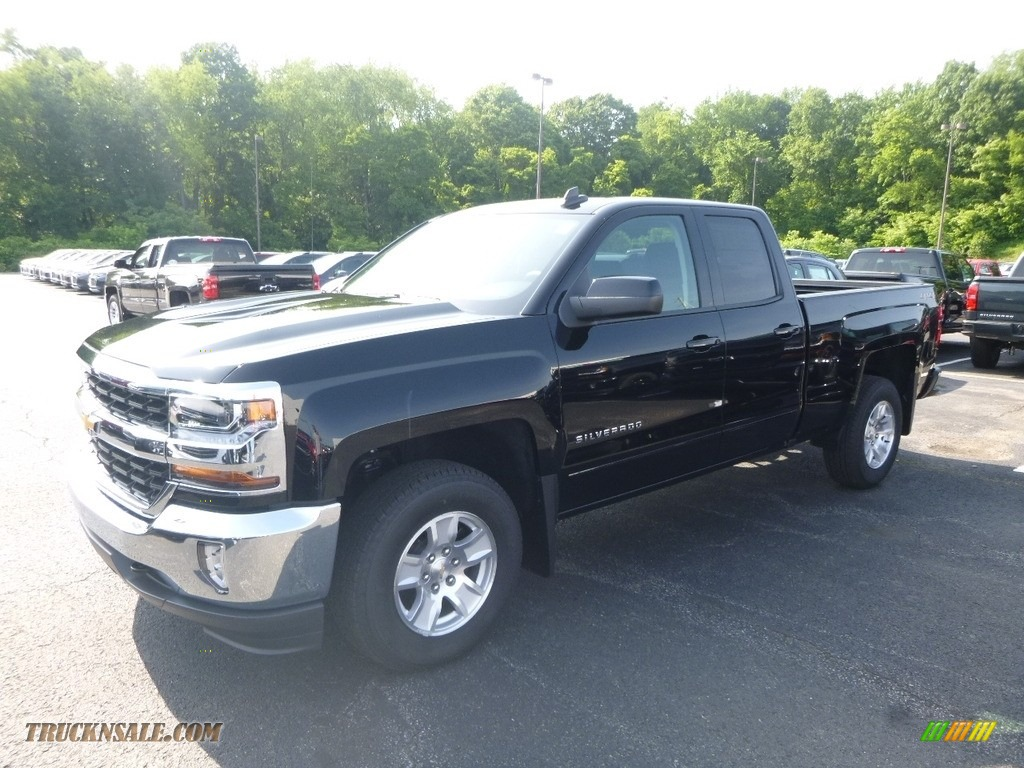 2018 Silverado 1500 LT Double Cab 4x4 - Black / Jet Black photo #1