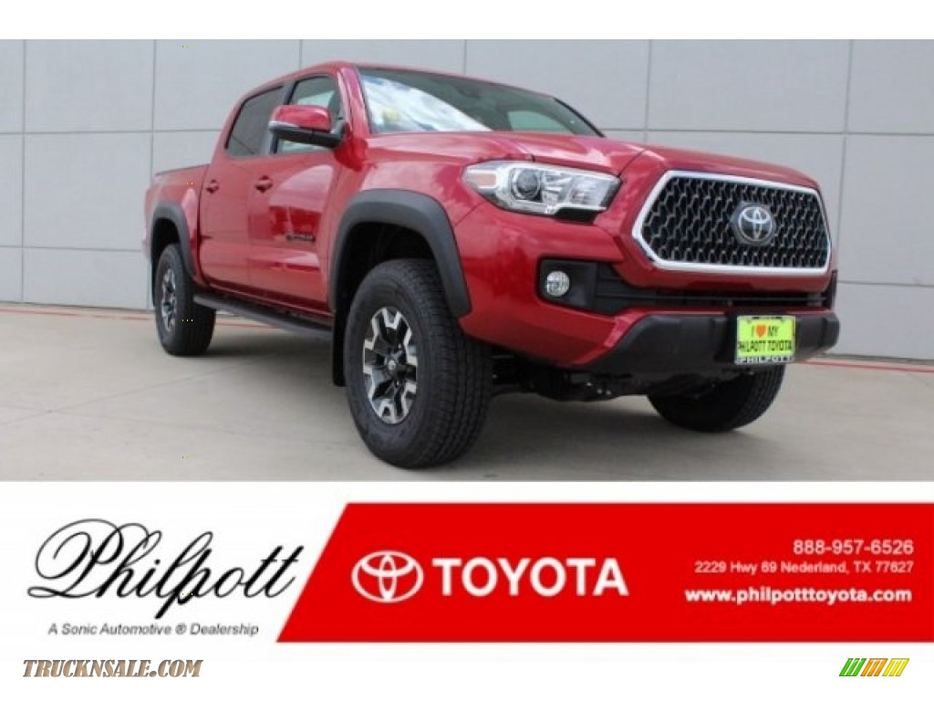 2018 Tacoma TRD Off Road Double Cab 4x4 - Barcelona Red Metallic / Graphite w/Gun Metal photo #1