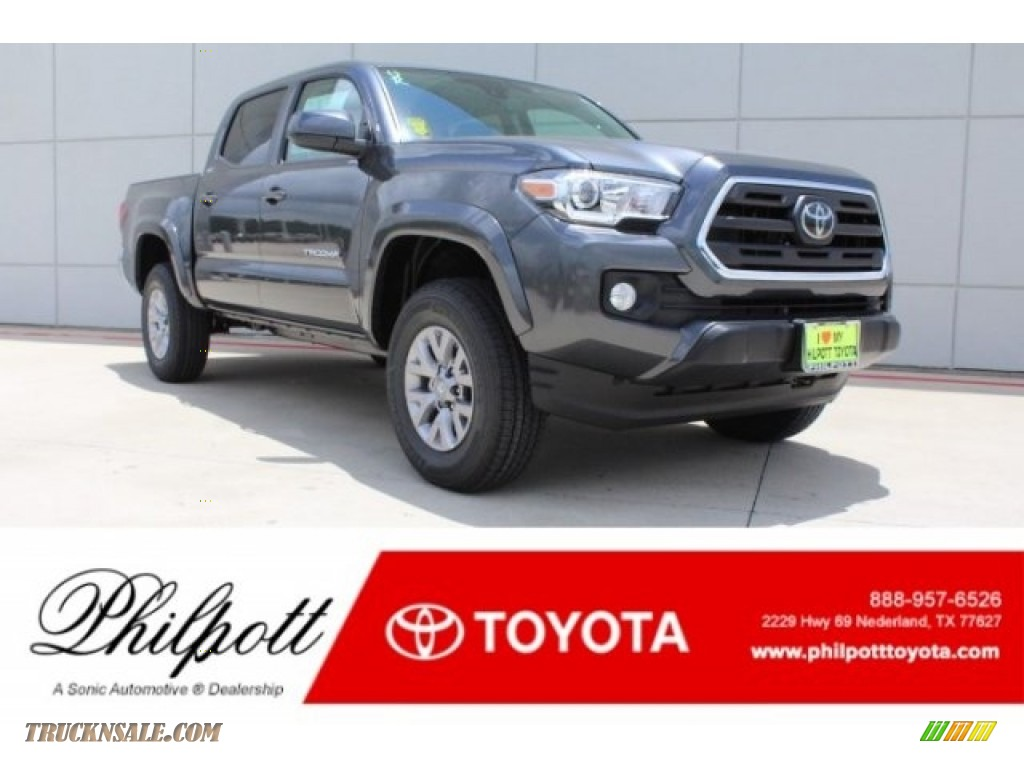 2018 Tacoma SR5 Double Cab - Magnetic Gray Metallic / Cement Gray photo #1