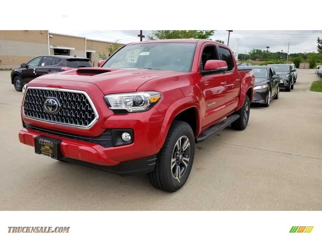 2018 Tacoma TRD Sport Double Cab 4x4 - Barcelona Red Metallic / Graphite w/Gun Metal photo #1