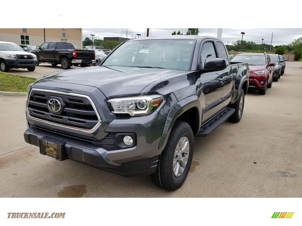 2018 Tacoma SR5 Access Cab - Magnetic Gray Metallic / Cement Gray photo #1