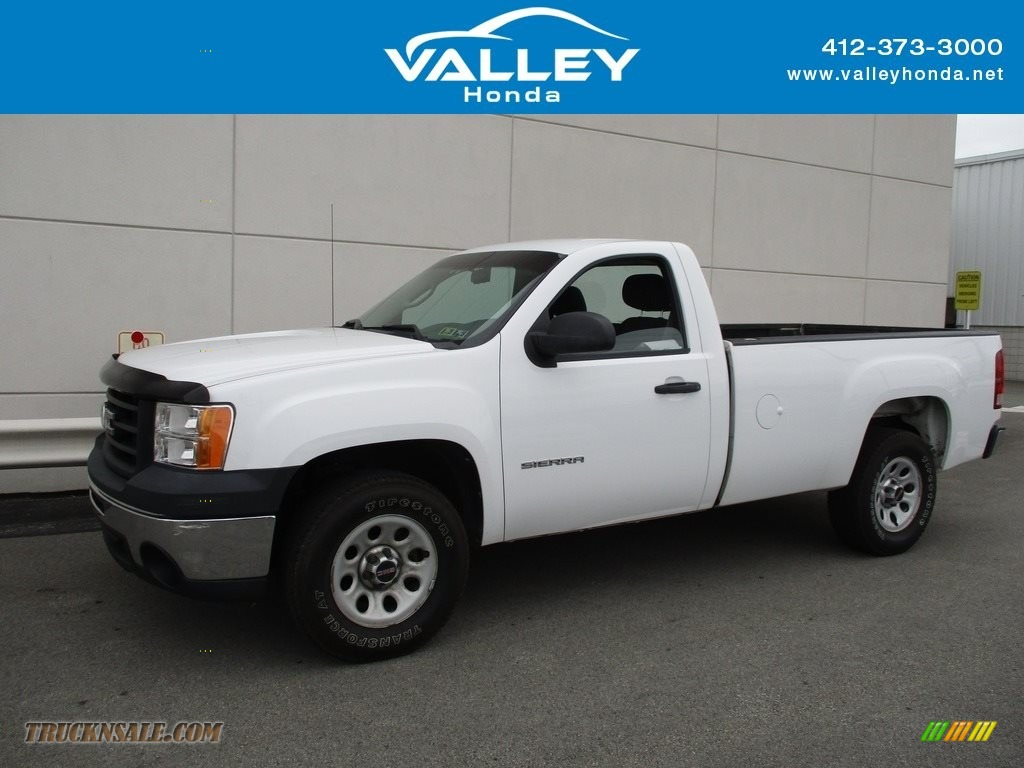 2011 Sierra 1500 Regular Cab - Summit White / Dark Titanium photo #1