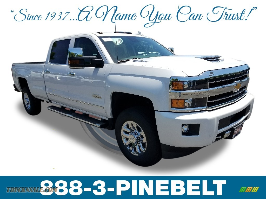 2018 Silverado 3500HD High Country Crew Cab 4x4 - Summit White / High Country Jet Black/Ash Gray photo #1