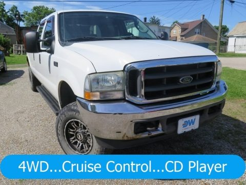 Oxford White 2004 Ford F250 Super Duty XLT Crew Cab 4x4