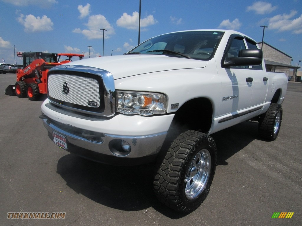 Bright White / Taupe Dodge Ram 2500 ST Quad Cab 4x4