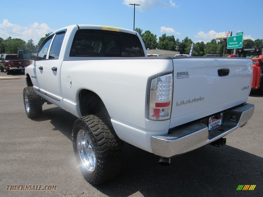2004 Ram 2500 ST Quad Cab 4x4 - Bright White / Taupe photo #3
