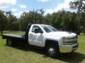Chevrolet Silverado 3500HD Work Truck Regular Cab 4x4 Stake Truck Summit White photo #6