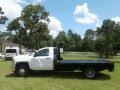 Chevrolet Silverado 3500HD Work Truck Regular Cab 4x4 Stake Truck Summit White photo #10