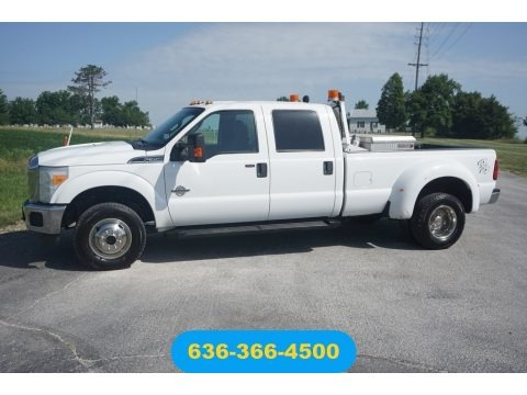 Oxford White 2011 Ford F350 Super Duty XLT Crew Cab 4x4 Dually