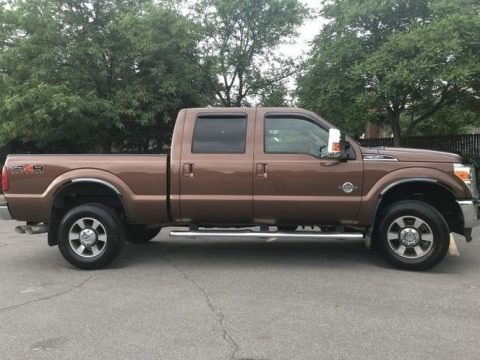 Golden Bronze Metallic 2011 Ford F350 Super Duty Lariat Crew Cab 4x4