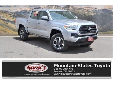 Silver Sky Metallic 2017 Toyota Tacoma SR5 Double Cab 4x4