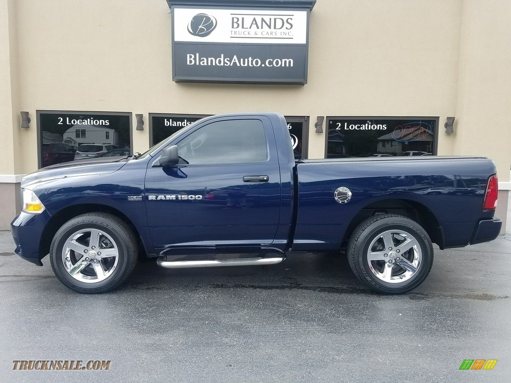 True Blue Pearl / Dark Slate Gray/Medium Graystone Dodge Ram 1500 ST Regular Cab 4x4