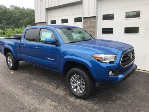 Blazing Blue Pearl 2018 Toyota Tacoma SR5 Double Cab