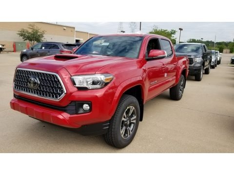Barcelona Red Metallic 2018 Toyota Tacoma TRD Sport Double Cab 4x4