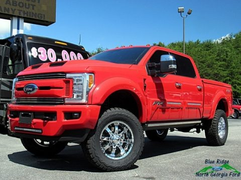 Race Red 2018 Ford F250 Super Duty Tuscany FTX Crew Cab 4x4