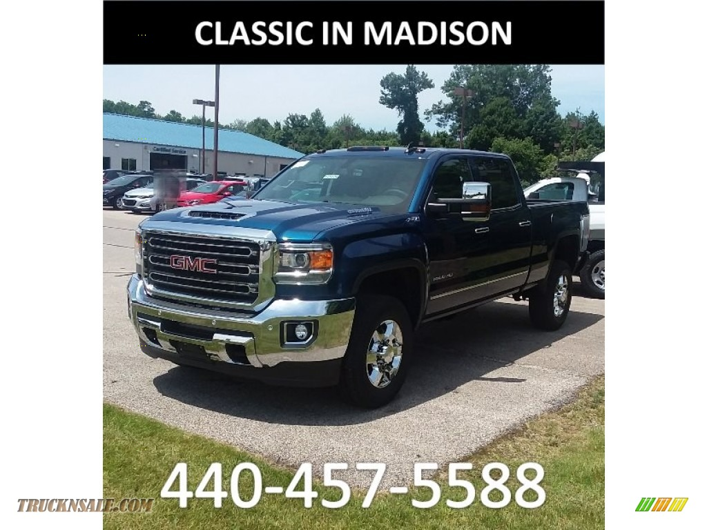 2019 Sierra 2500HD SLT Crew Cab 4WD - Stone Blue Metallic / Jet Black photo #1