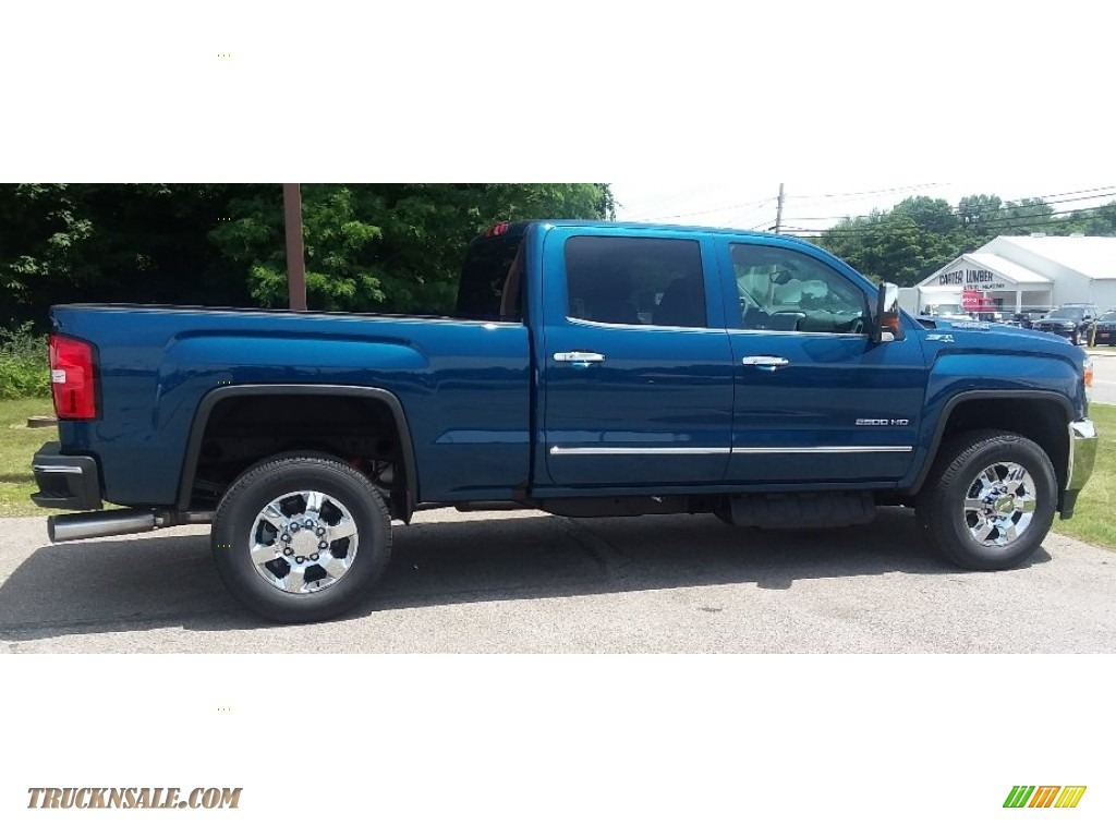 2019 Sierra 2500HD SLT Crew Cab 4WD - Stone Blue Metallic / Jet Black photo #2